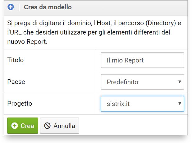 Creare un report da un mdoello con il Toolbox SISTRIX
