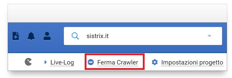 Come fermare il crawler dell'Optimizer SISTRIX durante una scansione
