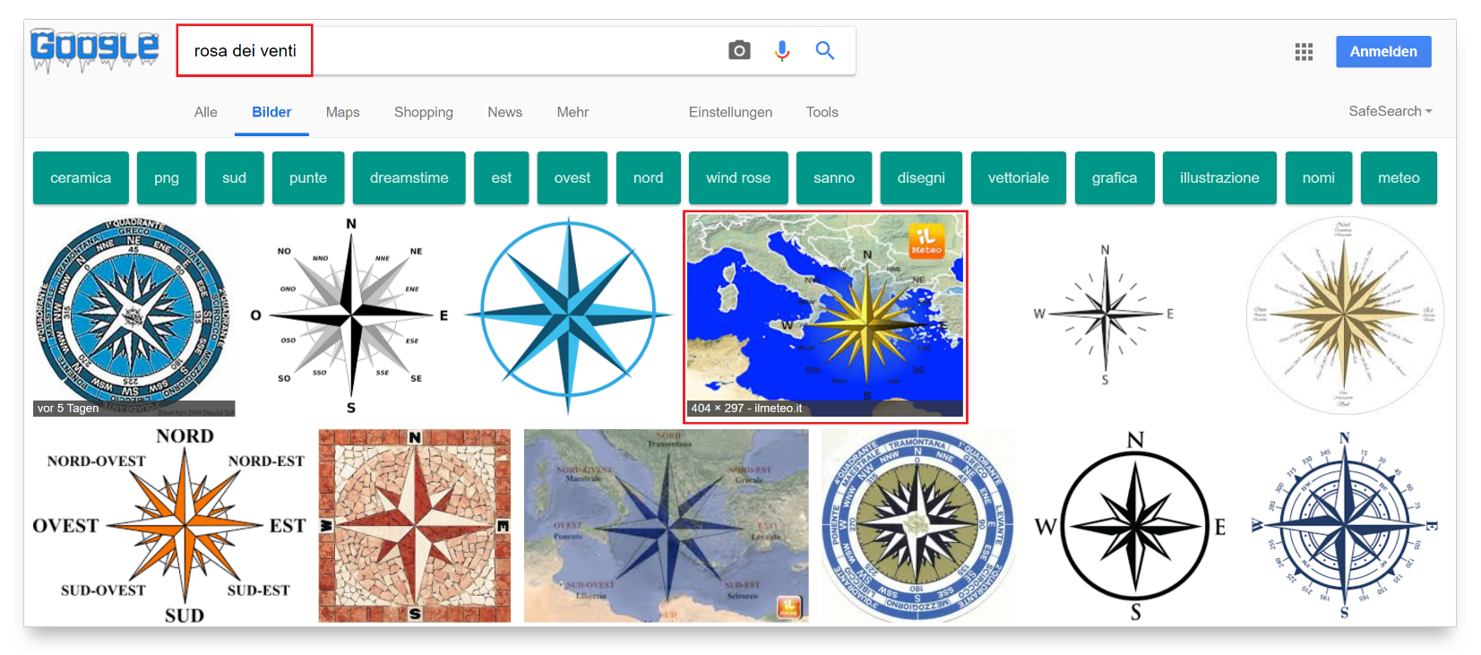 keyword ricerca immagini