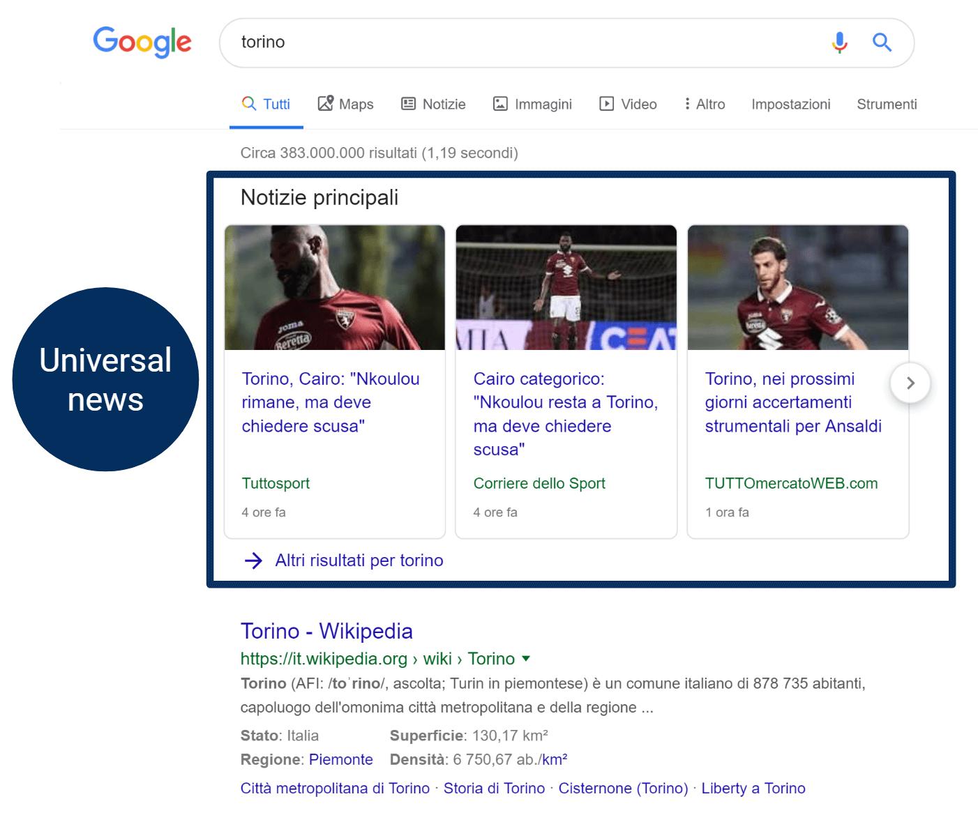 """Integrazione news per """"torino"""""""