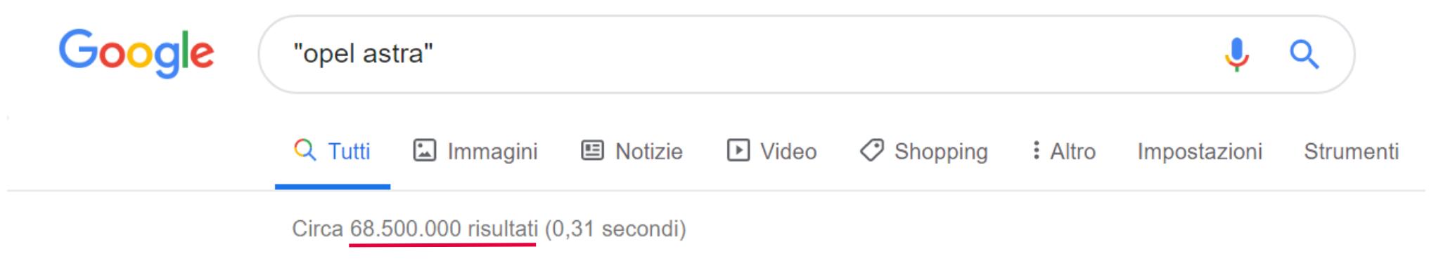 Ricerca su Google con virgolette