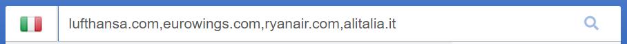 Inserisci i domini che desideri analizzare nella barra di ricerca