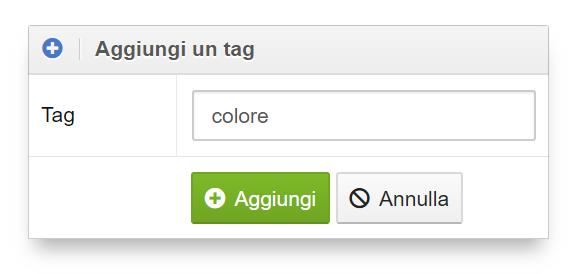 Aggiungere un tag nell'Optimizer