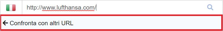 Metodo alternativo per confrontare un URL