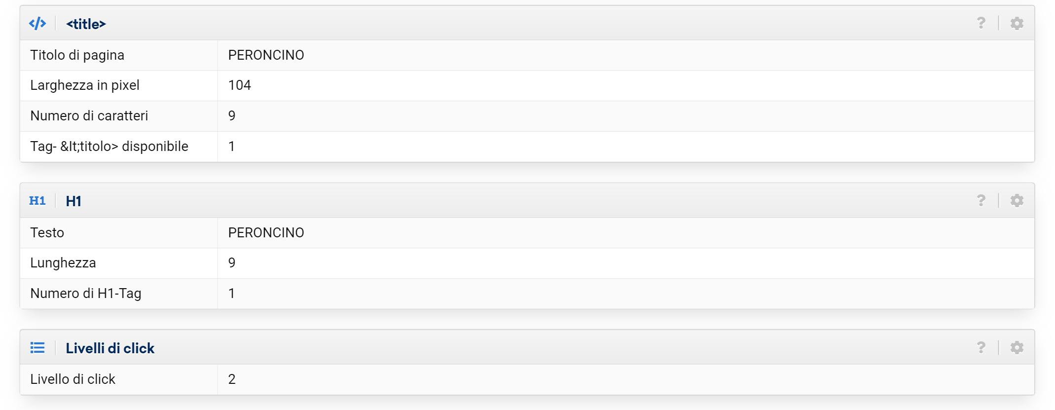 elementi tile, h1 e livelli di click