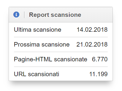 Report scansione Optimizer