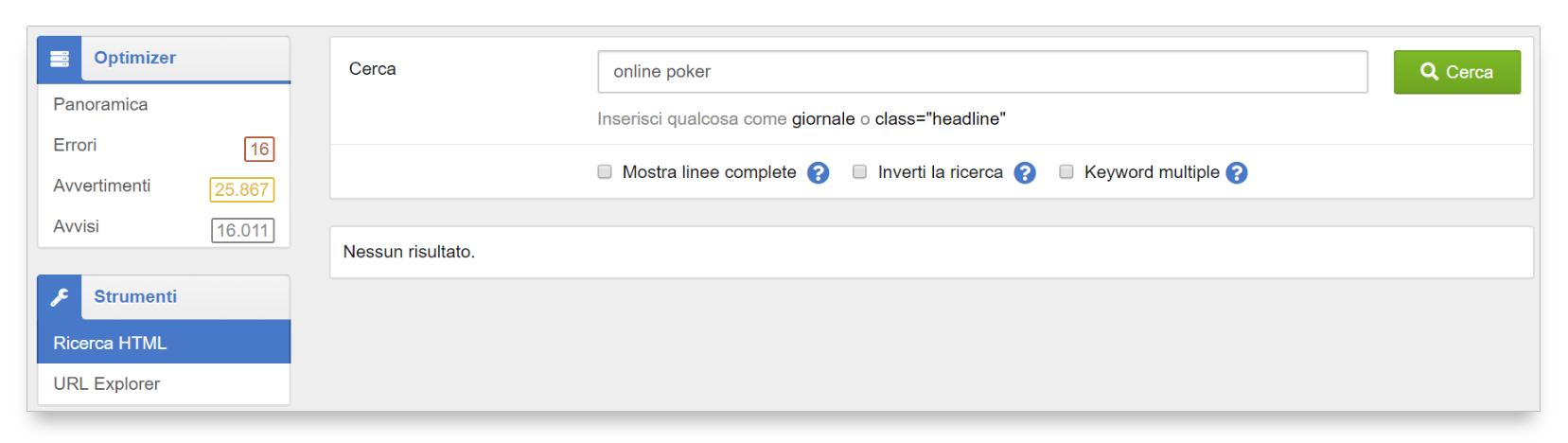 Ricerca html optimizer