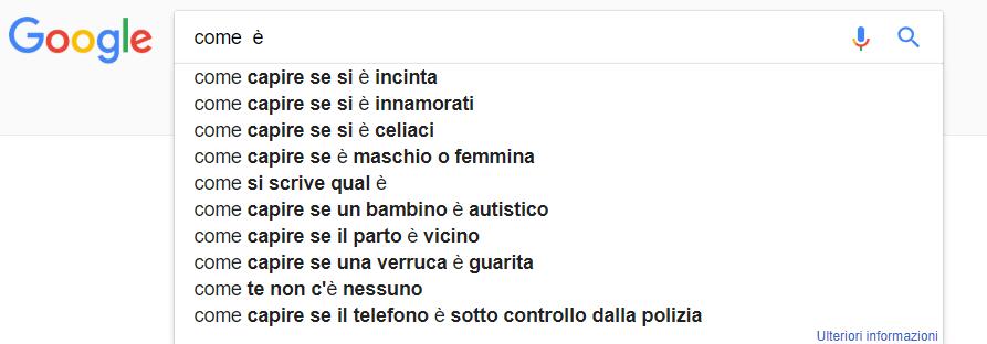Doppio spazio su Google Suggest