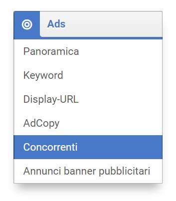 """Sezione """"Ads"""" nel Toolbox SISTRIX"""