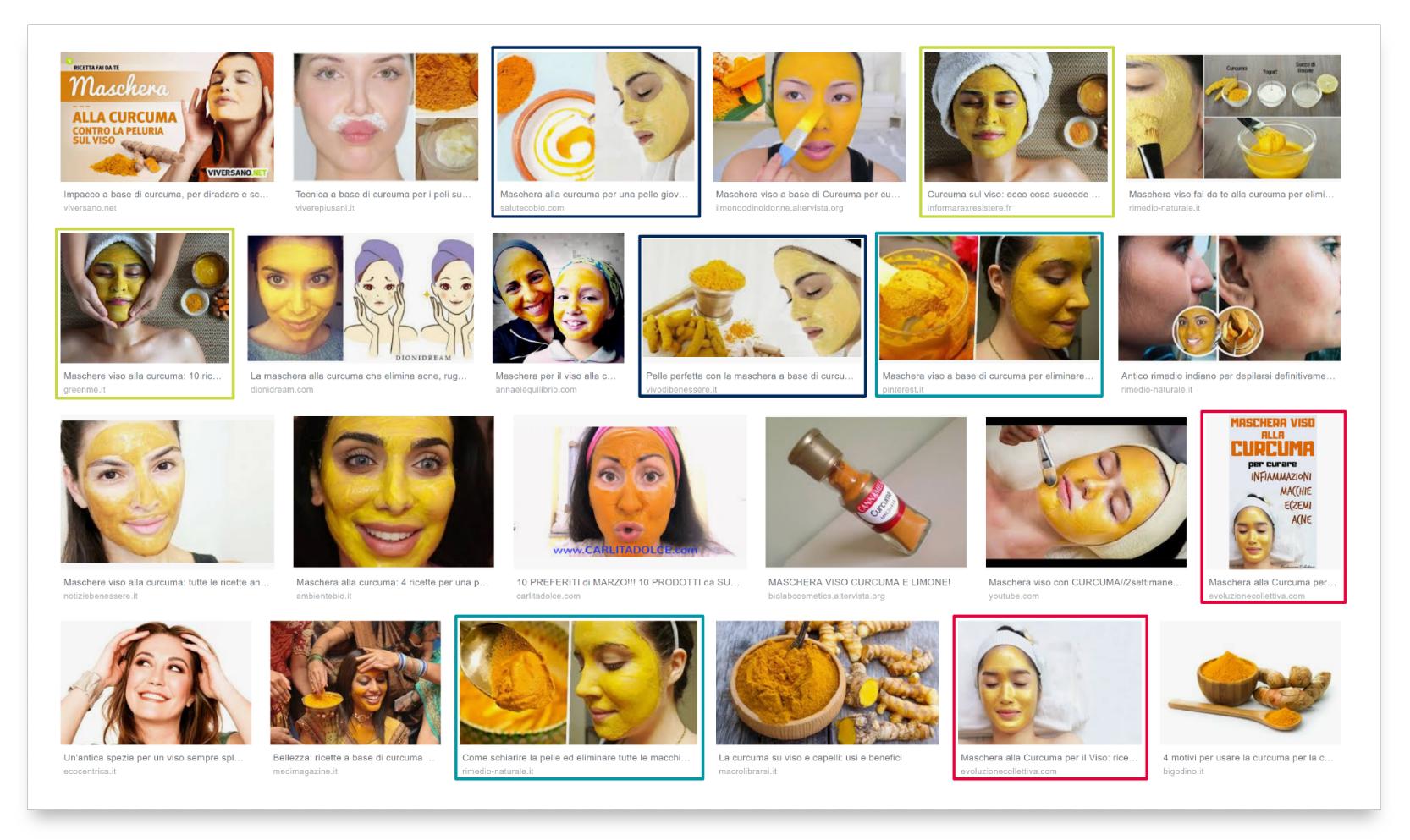 "Ricerca Google Immagini per ""kurkuma viso""."