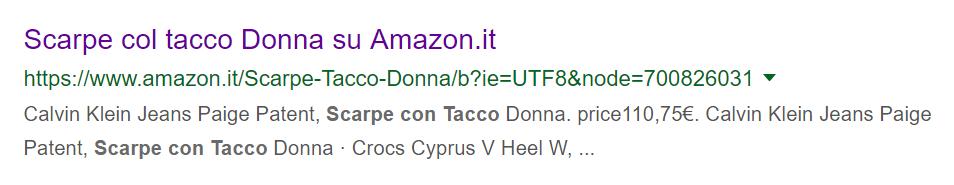 Metadescription sostituita Google