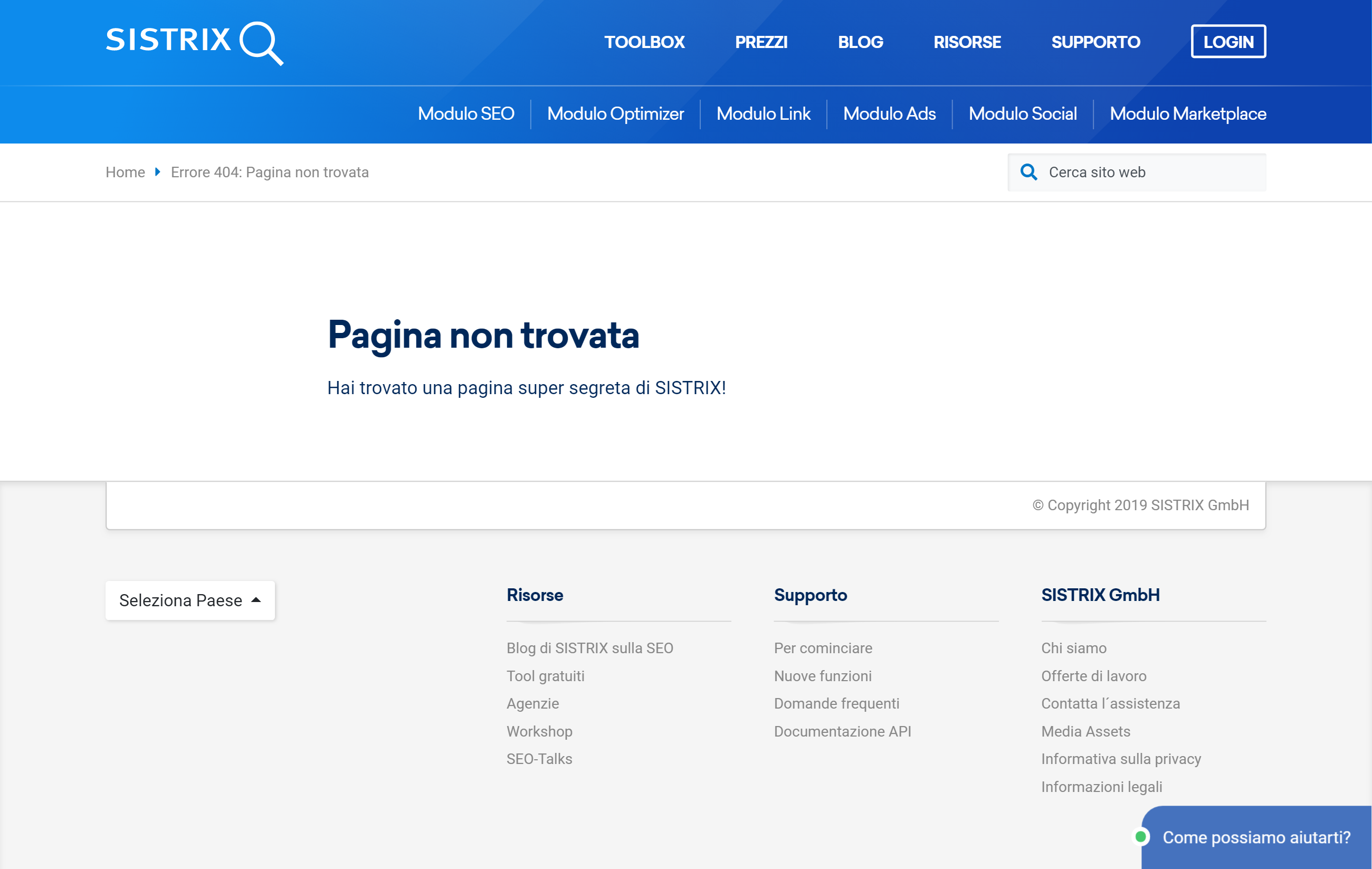 pagina 404 sistrix