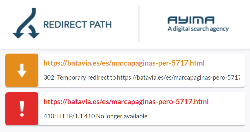Ayima Redirect Path: errore 410