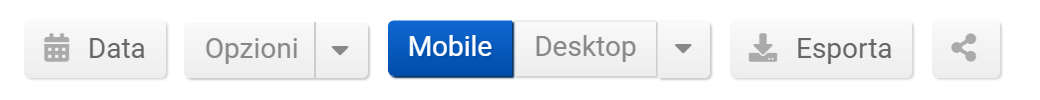 Toolbox SISTRIX: opzioni tabella degli URL