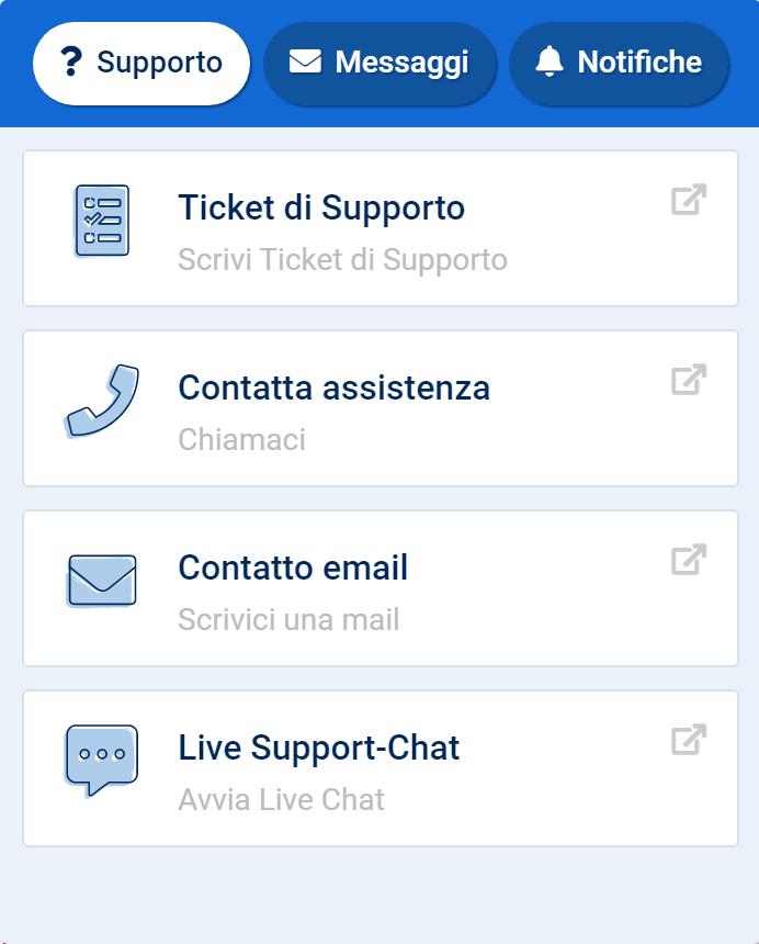 Contattare il supporto dal Toolbox SISTRIX