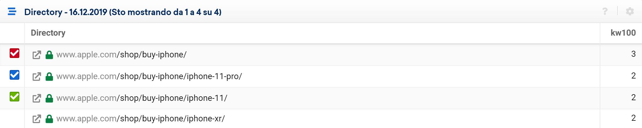 Sottodirectory di apple.com nel Toolbox SISTRIX