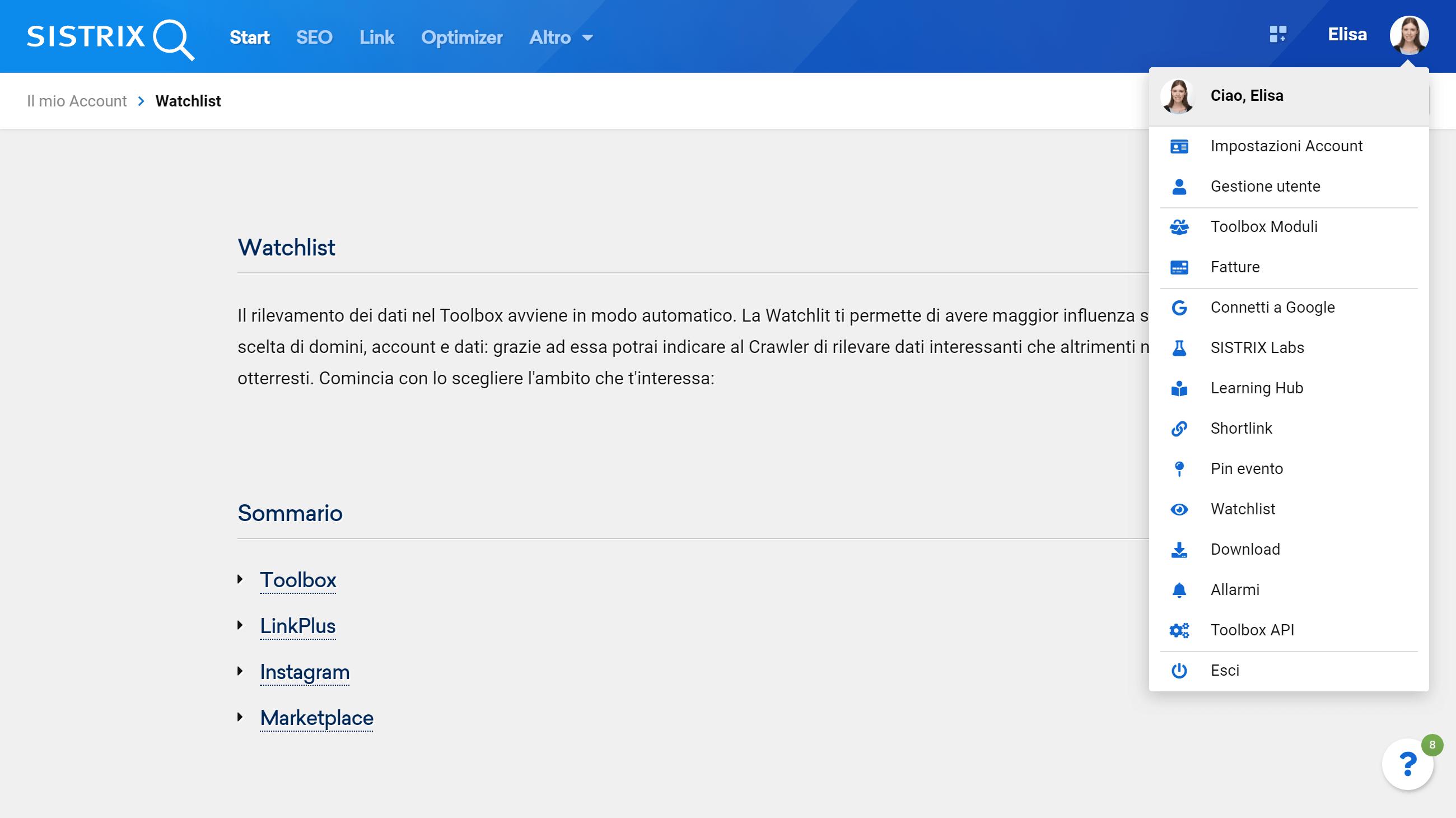 Dove trovare LinkPlus nel Toolbox SISTRIX