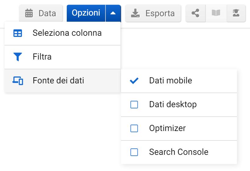 Come selezionare la fonte dei dati nel Toolbox SISTRIX