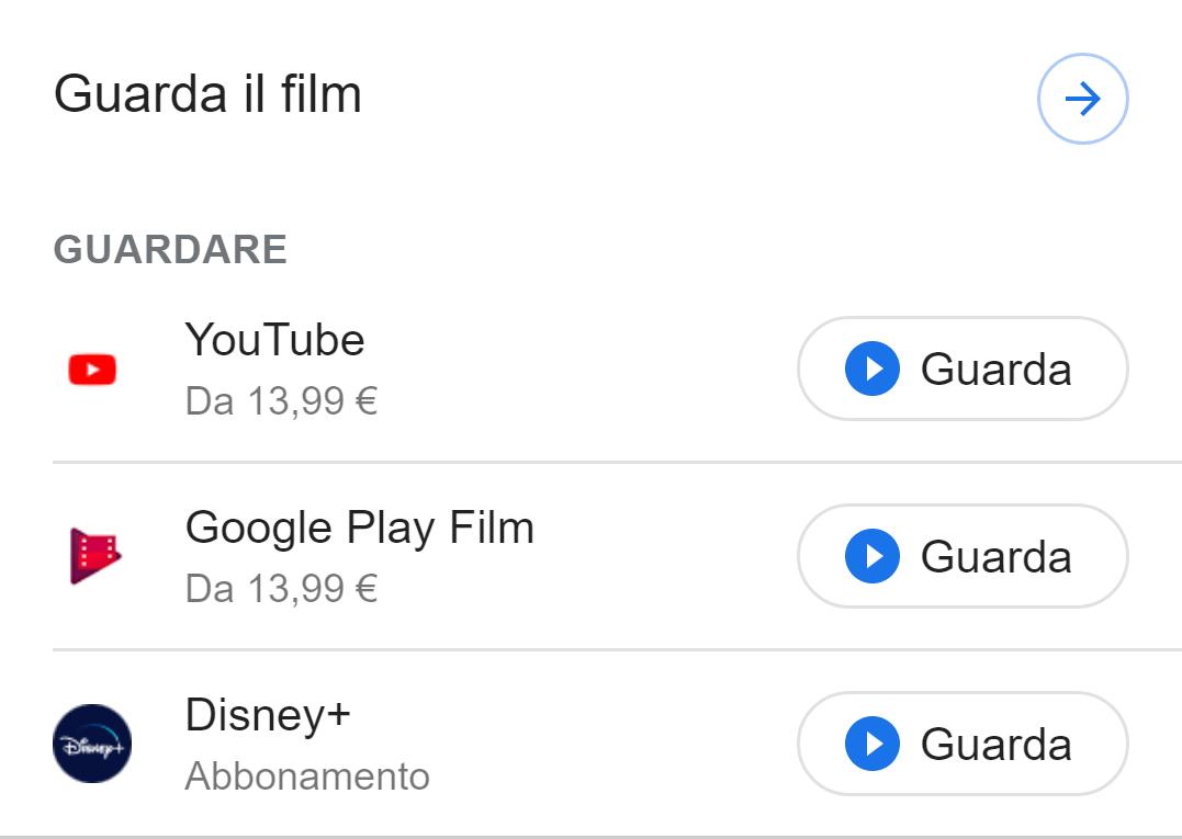 Esempio dell'integrazione Guarda Film