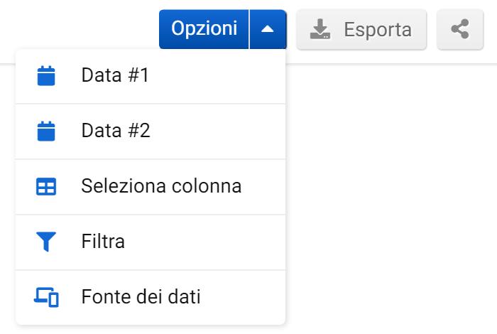 Opzioni nella sezione Cambiamenti di Ranking del Toolbox SISTRIX