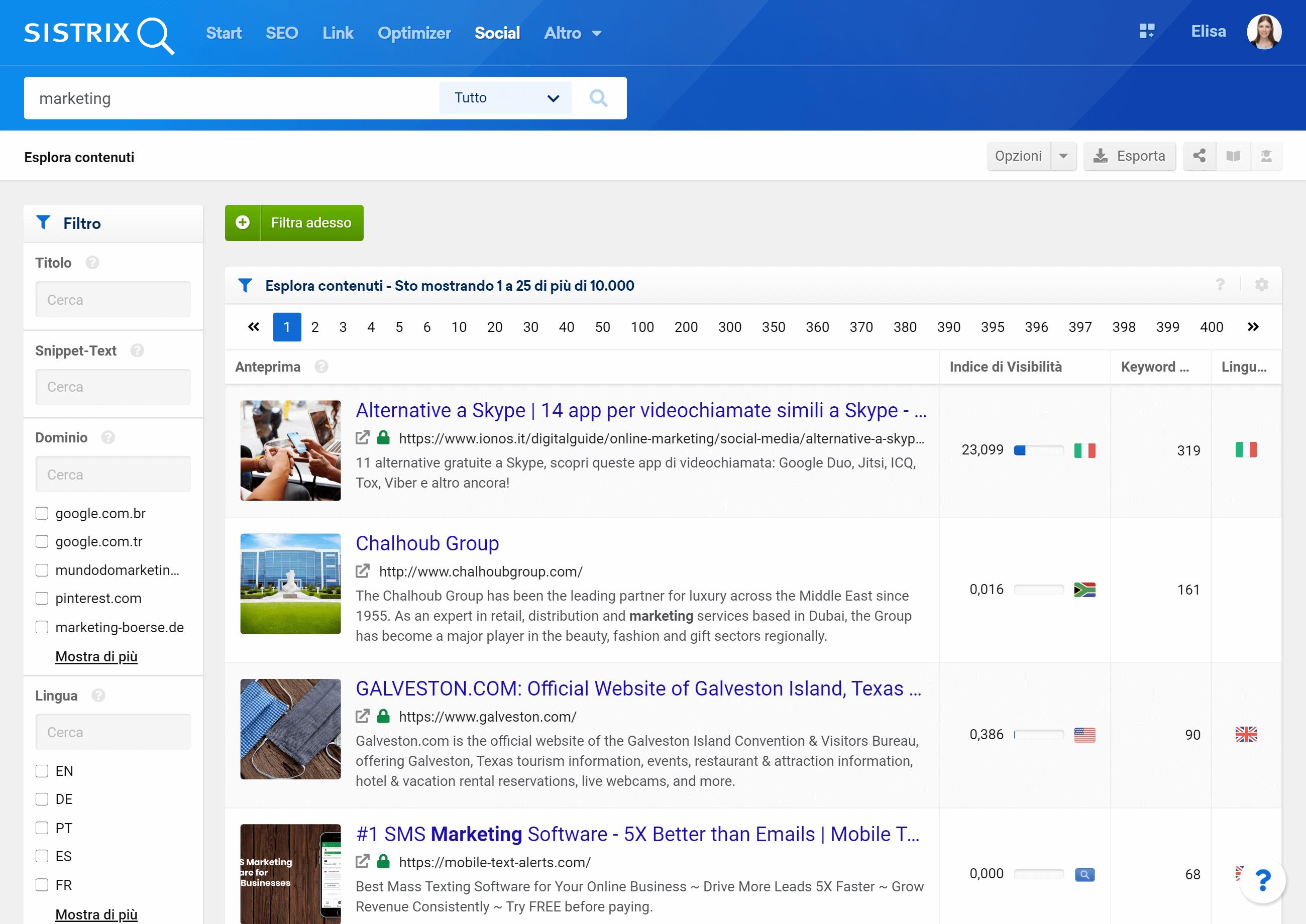 """Il tool """"Content Discovery"""" di SISTRIX"""