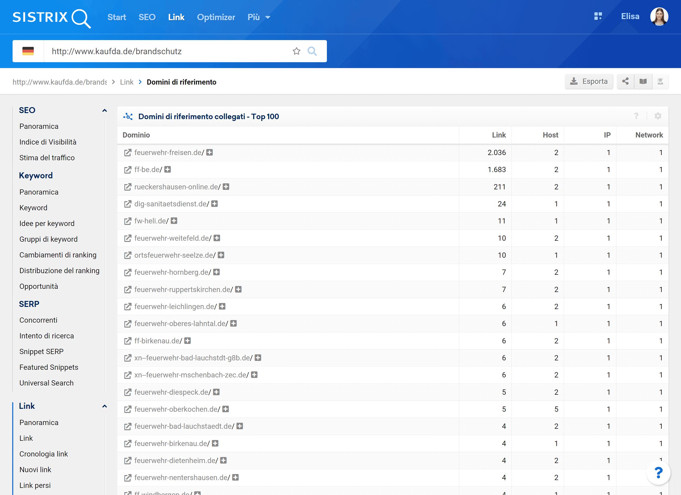 Numerosi domini che linkano kaufda.de sono siti di vigili del fuoco