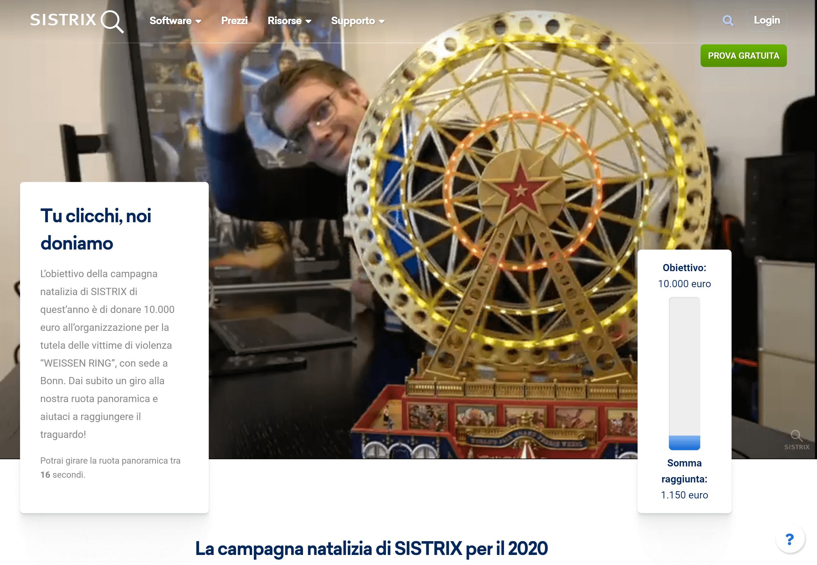 Azione natalizia di SISTRIX 2020