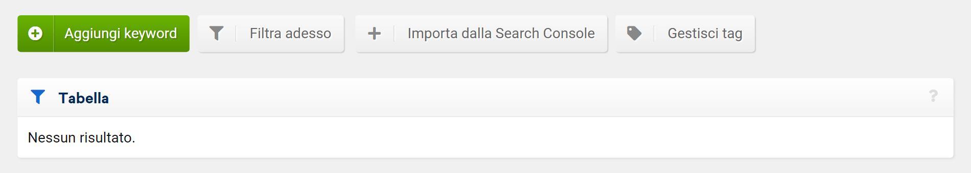 Come aggiungere un proprio campione di keyword in un progetto Optimizer