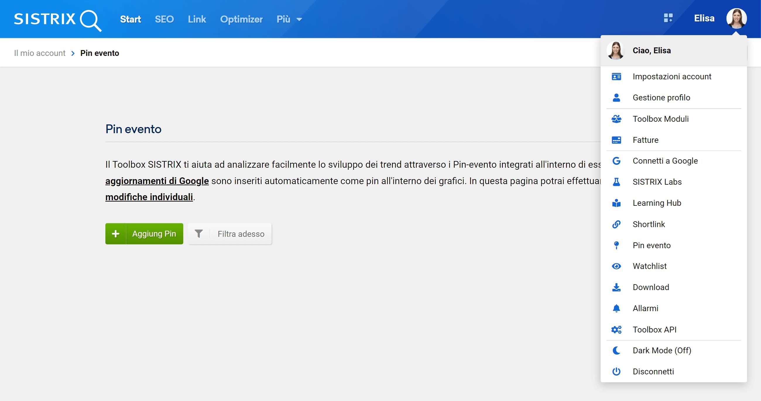 Come creare un pin evento su SISTRIX