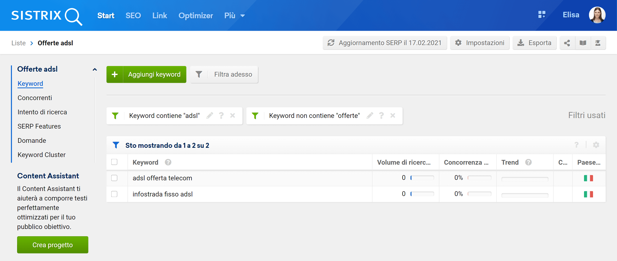 Come aggiungere dei filtri ad una lista nel Toolbox SISTRIX