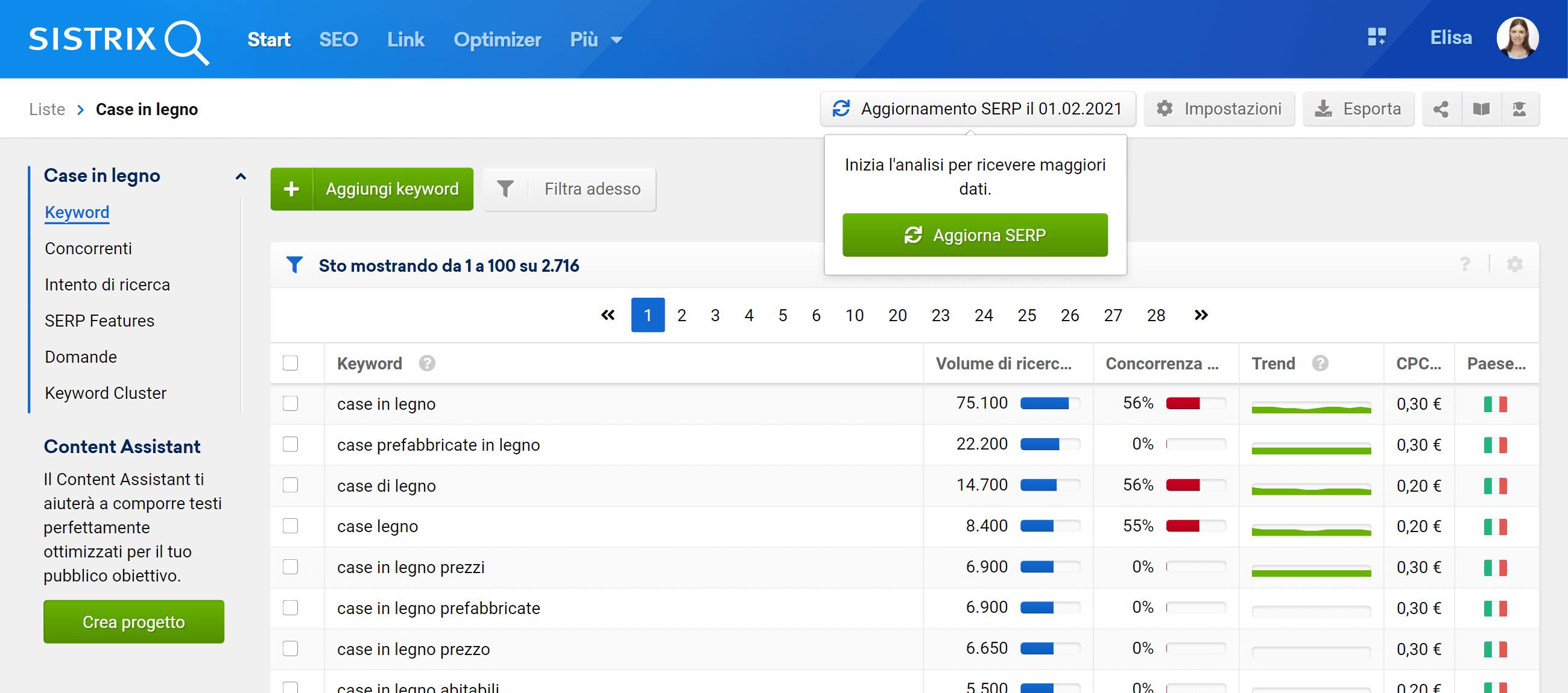 Ottenere i dati aggiornati in una lista