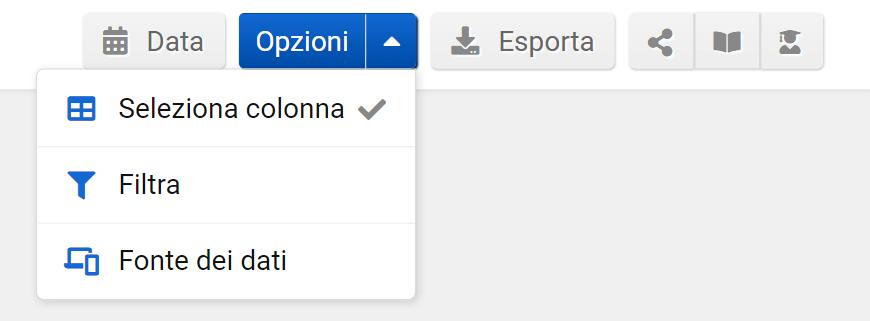 Opzioni delle keyword
