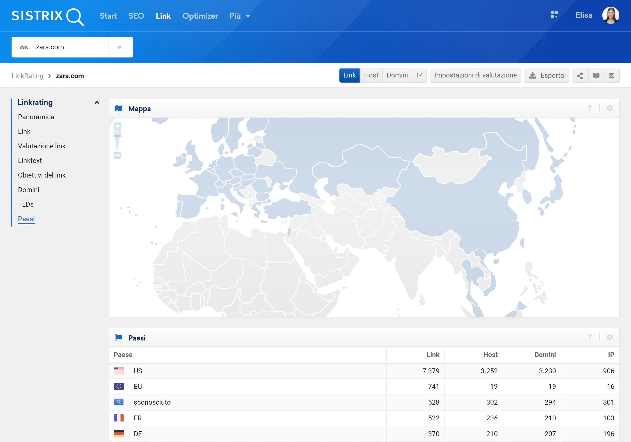 Paesi linkrating