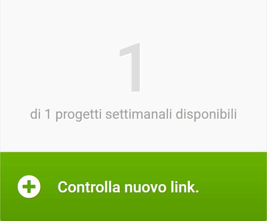 Iniziare nuovo progetto linkrating